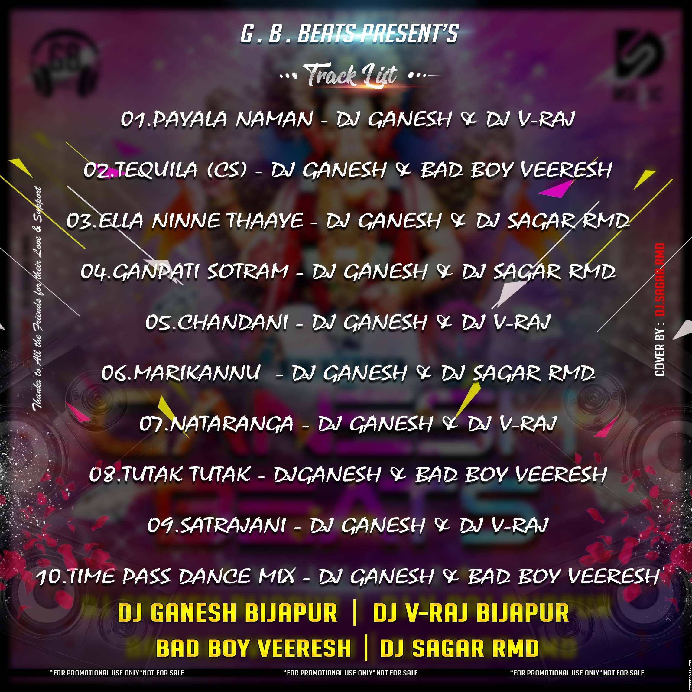 GANESH BEATS  Vol 2 Track list